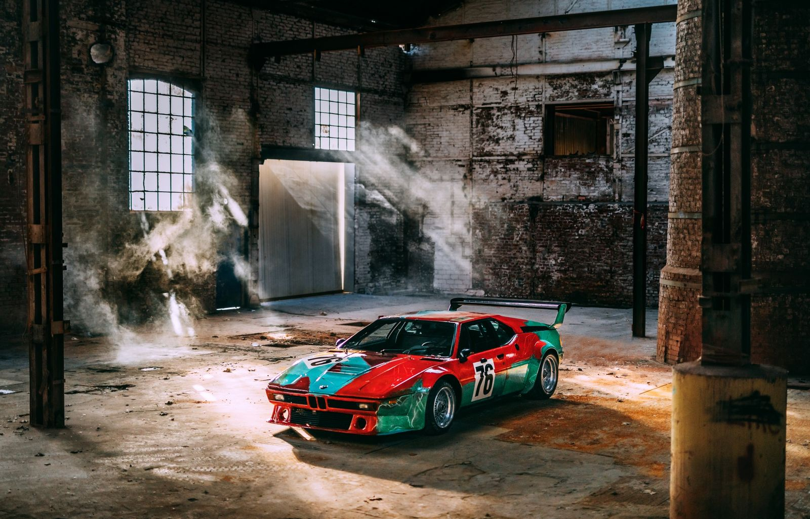 Photo shoot celebrating a special birthday: The BMW M1 Art Car by Andy Warhol