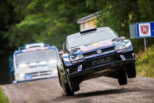 Yes, That's a Kamaz Truck Chasing a VW Polo WRC on a Rally Finland Stage