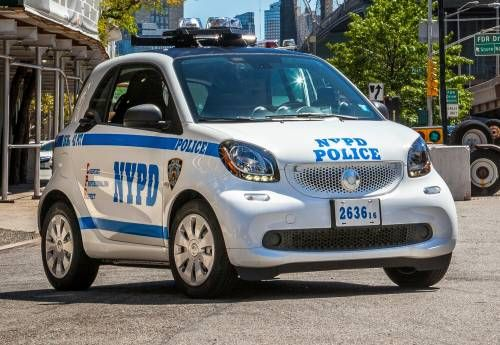 The Smart Fortwo Is Now an NYPD Patrol Car So You Might as Well Call It the Forcops