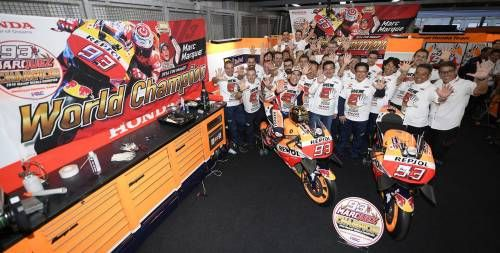 Marc Marquez Secured His Fifth World Tittle at Twin Ring Motegi This Weekend