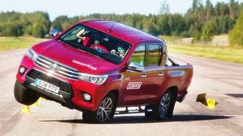 Toyota Hilux Prone to Rollover in Moose Test