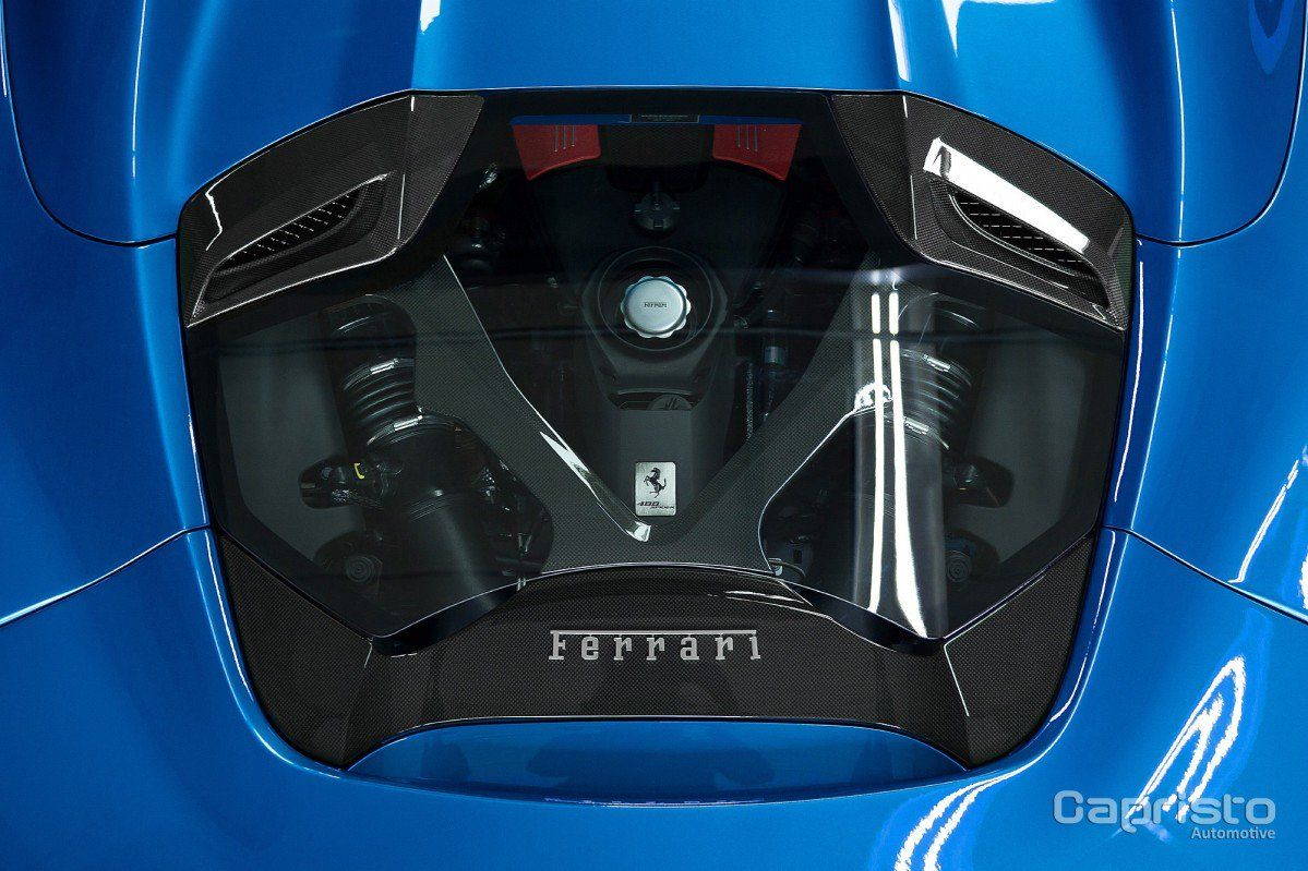 Custom Ferrari 488 Spider Hood By Capristo Lets You See The Engine
