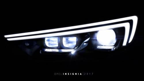 Opel Teases All-New 2017 Insignia's IntelliLux LED Headlights