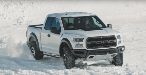 Here's Ken Block Dashing Through the Snow in a Ford F-150 Raptor