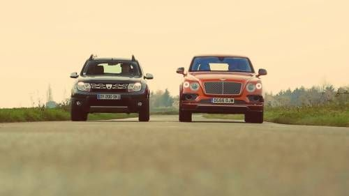 The French Pit Dacia Duster vs. Bentley Bentayga In A Crazy Test Drive