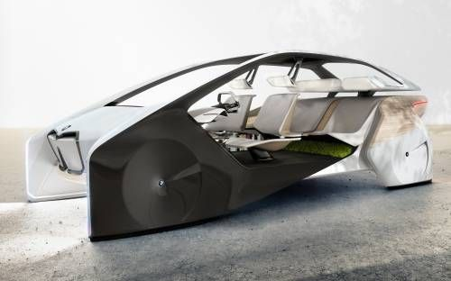 BMW i Inside Future Sculpture Imagines a Car Interior of Times to Come
