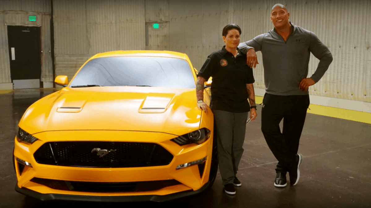 """The Rock"""" Gave the First 2018 Ford Mustang to a War Veteran"""