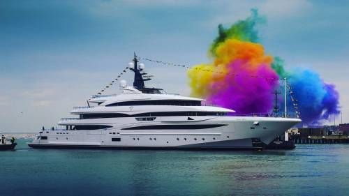 CRN's Cloud 9 Superyacht Launched in Ancona