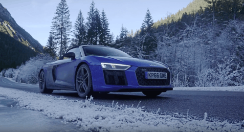 The Audi R8 Spyder Was Born to Blast Through the Alps
