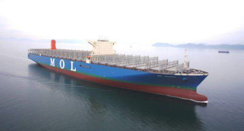 World's largest containership MOL Triumph Delivered