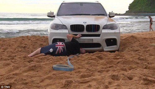 BMW Owner Gets Stuck in the Sand, Hilarity Ensues