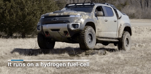 Take a closer look at GM's fuel-cell Chevrolet Colorado ZH2 built for the US Army