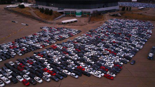 Check out these parking lots full of diesel Volkswagen buybacks