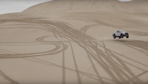 Ken Block ditches his Ford Fiesta RS for the F-150 Raptor and sand dunes