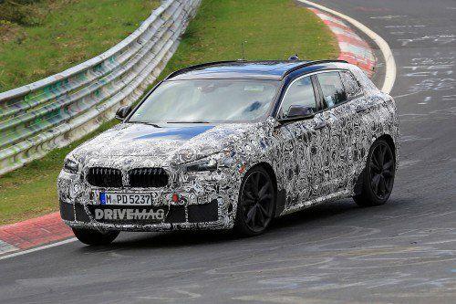 2018 BMW X2 spied testing hard on the Nürburgring Nordschleife