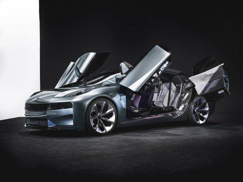 Lynk and Co 02 concept previews flamboyant luxury four-door