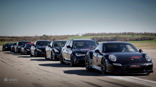 This ten-car drag race has it all, from a VW Golf to the Lamborghini Aventador