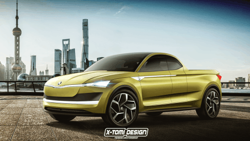 America, would you buy the production model of this Skoda Vision E pickup?