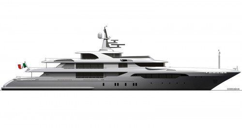 65m superyacht in build at Codecasa yard