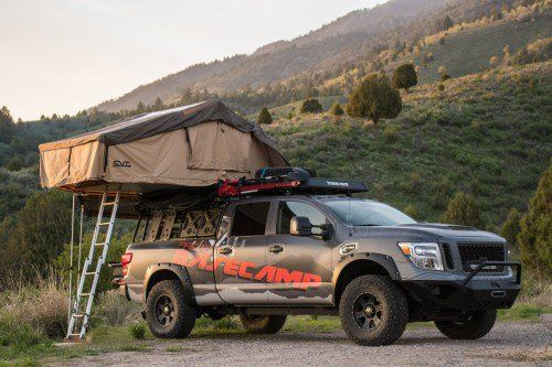 "Set up camp anywhere with the 2017 Nissan Titan XD Pro-4X ""Project Basecamp"""