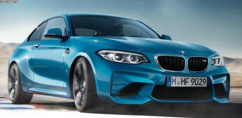 Facelifted 2018 BMW M2 surfaces wearing pair of LED headlights