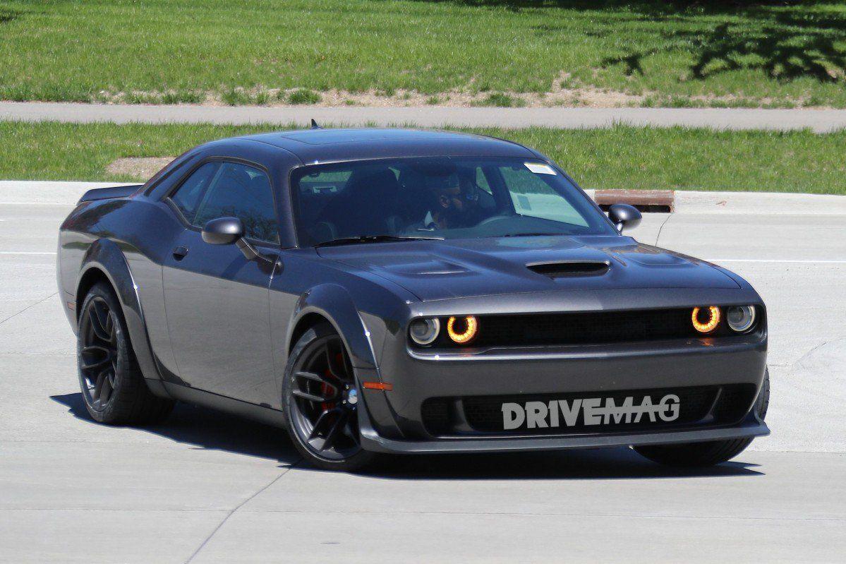 Widebody Dodge Challenger Srt Hellcat Spied Flashing Demon Body Parts