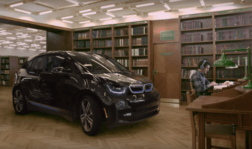 BMW i3 takes the silence test in a library, ends up misbehaving
