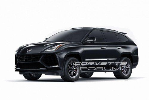 Thankfully this hideous Corvette SUV is only a rendering