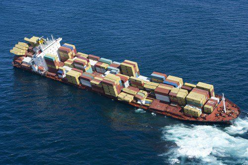 Disasters at sea involving container ships