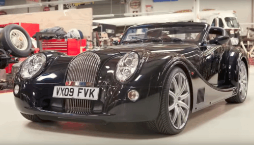 Visibly younger Jay Leno drives the Morgan Aero SuperSports in throwback video