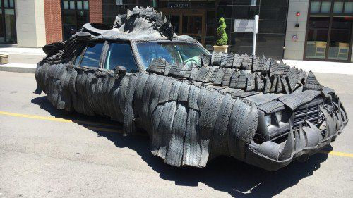 This car looks like it's prepared for a Mad Max sequel named Rubber Max