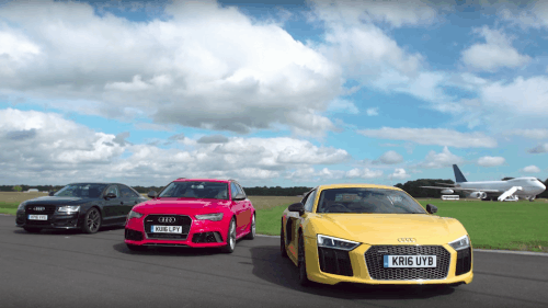 Being last in this drag race proves just how fast the Audi S8 actually is