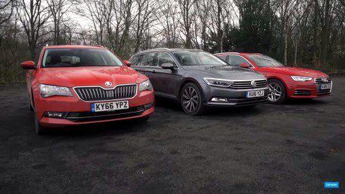 Video comparison: Audi A4 Avant vs Volkswagen Passat Estate vs Skoda Superb Estate