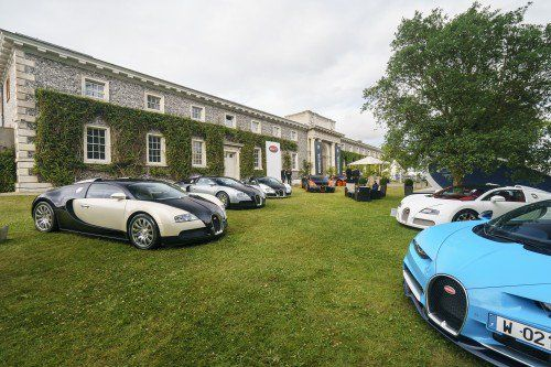 Here's nearly 10,000 HP worth of Bugatti grunt casually sitting at the Goodwood FoS