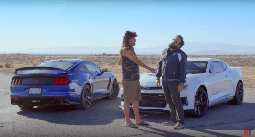 Chevy Camaro ZL1, Shelby Mustang GT350R go head to head once again