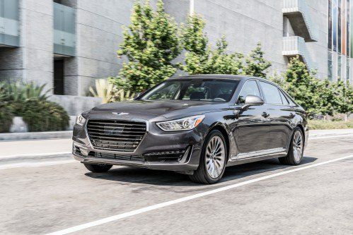 2018 Genesis G90 receives LED headlights, rear seat entertainment setup