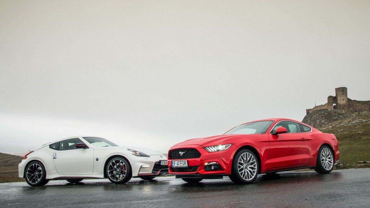 Mano a mano ford mustang ecoboost meets nissan 370z nismo