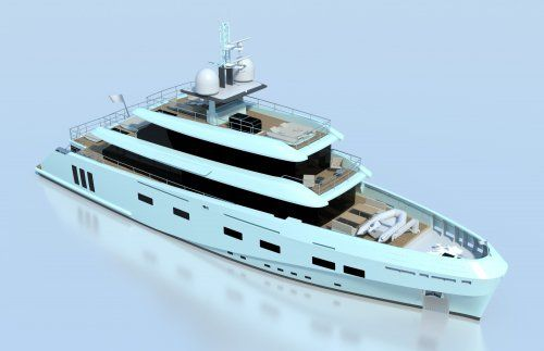 CCN's explorer yacht K40 in build