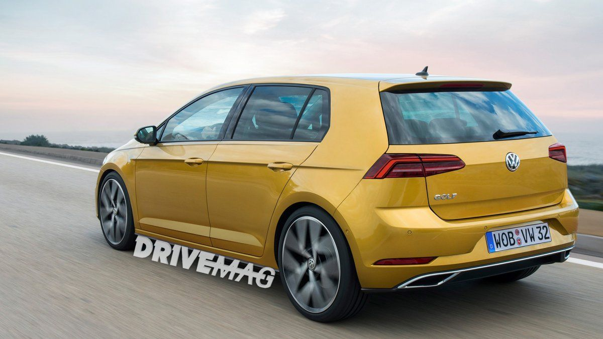 vw golf mk 8 rendering can t be far off actual model due. Black Bedroom Furniture Sets. Home Design Ideas