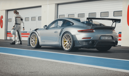 It's Walter Röhrl against Mark Webber in latest Porsche 911 GT2 RS ad
