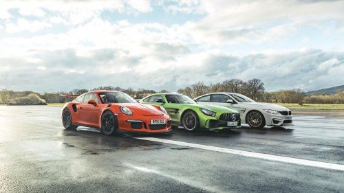 BMW M4 GTS, Porsche 911 GT3 RS and Merc-AMG GT R take the Chris Harris quiz
