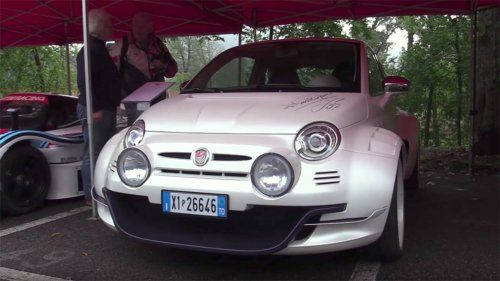 See the Giannini 350 GP mid-engined Fiat 500 hooned on the road