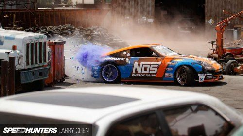 Let's celebrate colors and drifting with Chris Forsberg and his Nissan 370z