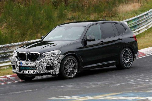 BMW X3 M flaunts lightly camouflaged body on the 'Ring