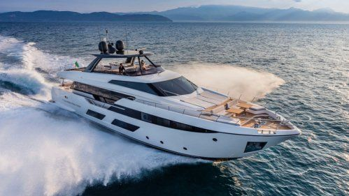 Ferretti 920 was one of the stars of Cannes Yachting Festival