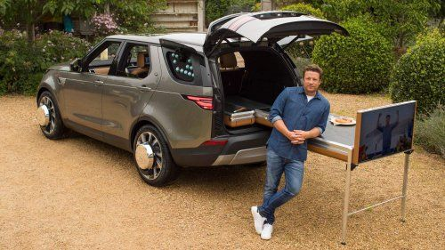 Land Rover turns Discovery into mobile kitchen for Jamie Oliver