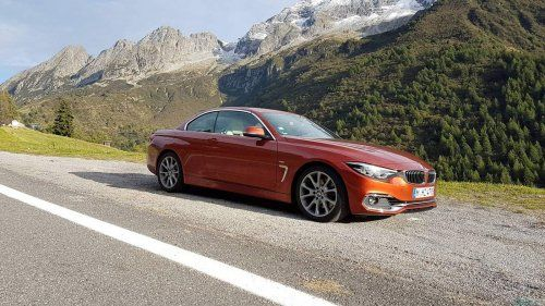 BMW 430i convertible Italian Alps 23