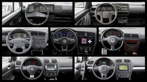 VW-Golf-infotainment-systems-throughout-seven-generations