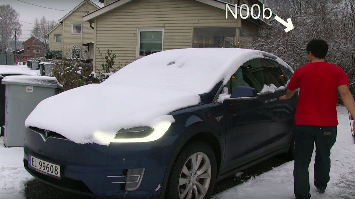 How Does A Tesla Model X Handle Winter Frost