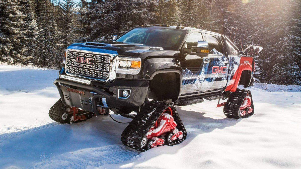 GMC has fitted tracks to this custom 2018 Sierra 2500HD ...